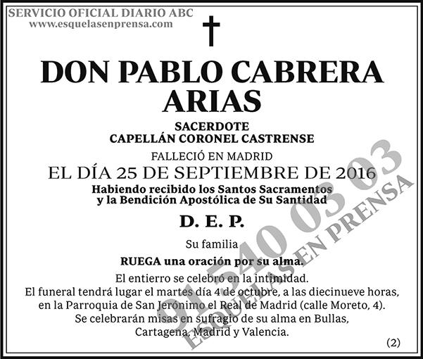 Pablo Cabrera Arias